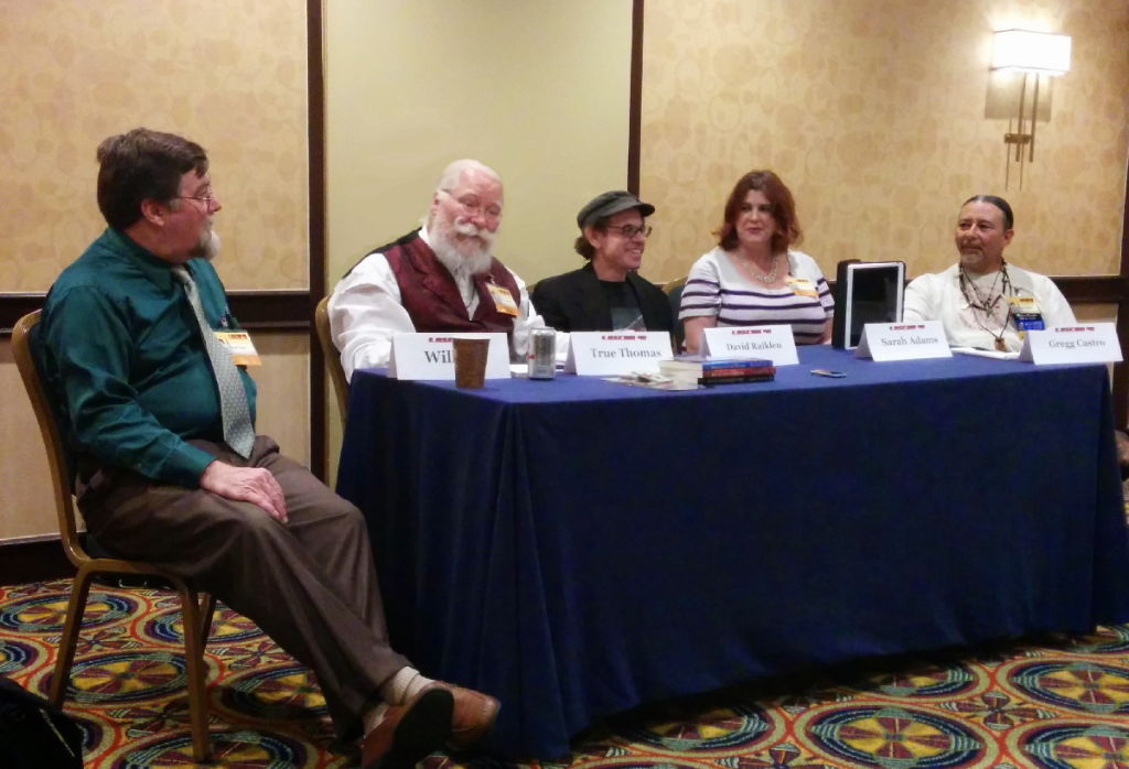 From left to right: Wolf Foss, True Thomas (Robert Seutter), David Raiklen, Sarah Adams, and Gregg Castro